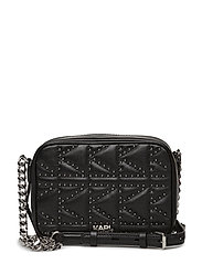 Kuilted Studs Camera Bag - BLACK/NICKEL