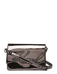 KARL LAGERFLED-Signature Gloss Shoulderbag - NICKEL
