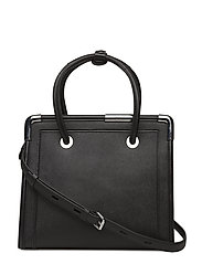 KARL LAGERFLED-Rocky Saffiano Tote - BLACK