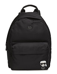 KARL LAGERFLED-Ikonik Nylon Backpack - BLACK