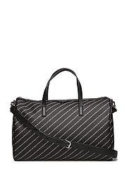 KARL LAGERFLED-Stripe Logo Weekender - BLACK