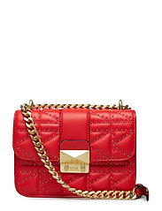 Kuilted Studs Crossbody - RED