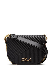 Signature Quilted  Shoulderbag - BLACK