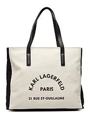 Rue Lagerfeld Cnvs Beachbag - NATURAL