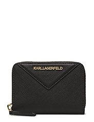 KARL LAGERFLED-Klassik Sm Zip Around Wallet - BLACK/GOLD