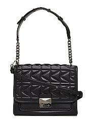 KARL LAGERFLED-Kuilted Handbag - BLACK GUNMETAL