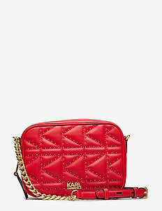 Kuilted Studs Camera Bag - RED
