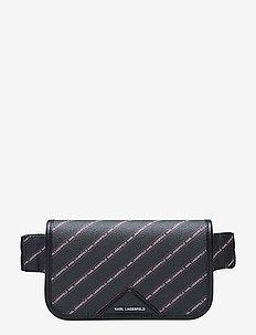 Stripe Logo Bumbag - BLACK