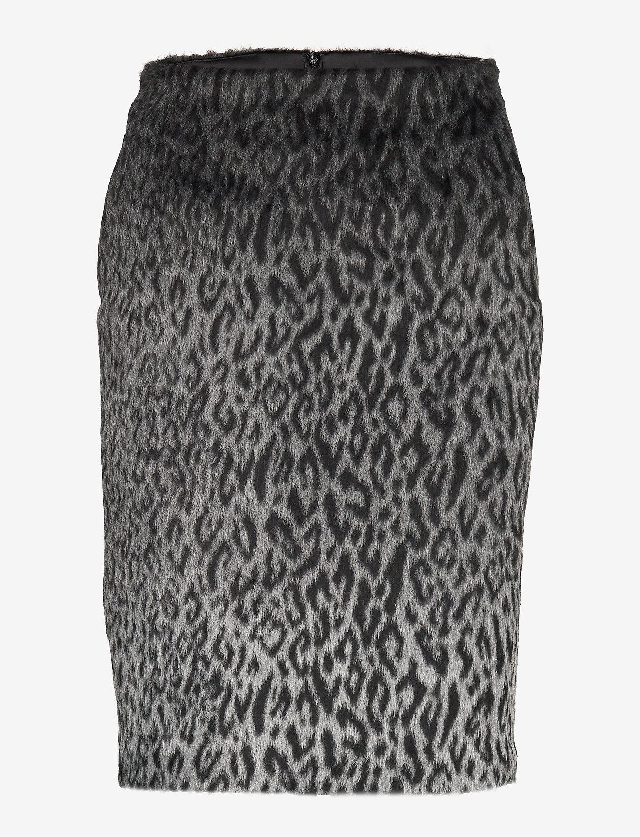 Karl Lagerfeld - Karl X Carine Leopard Skirt - kynähame - black/gray - 0