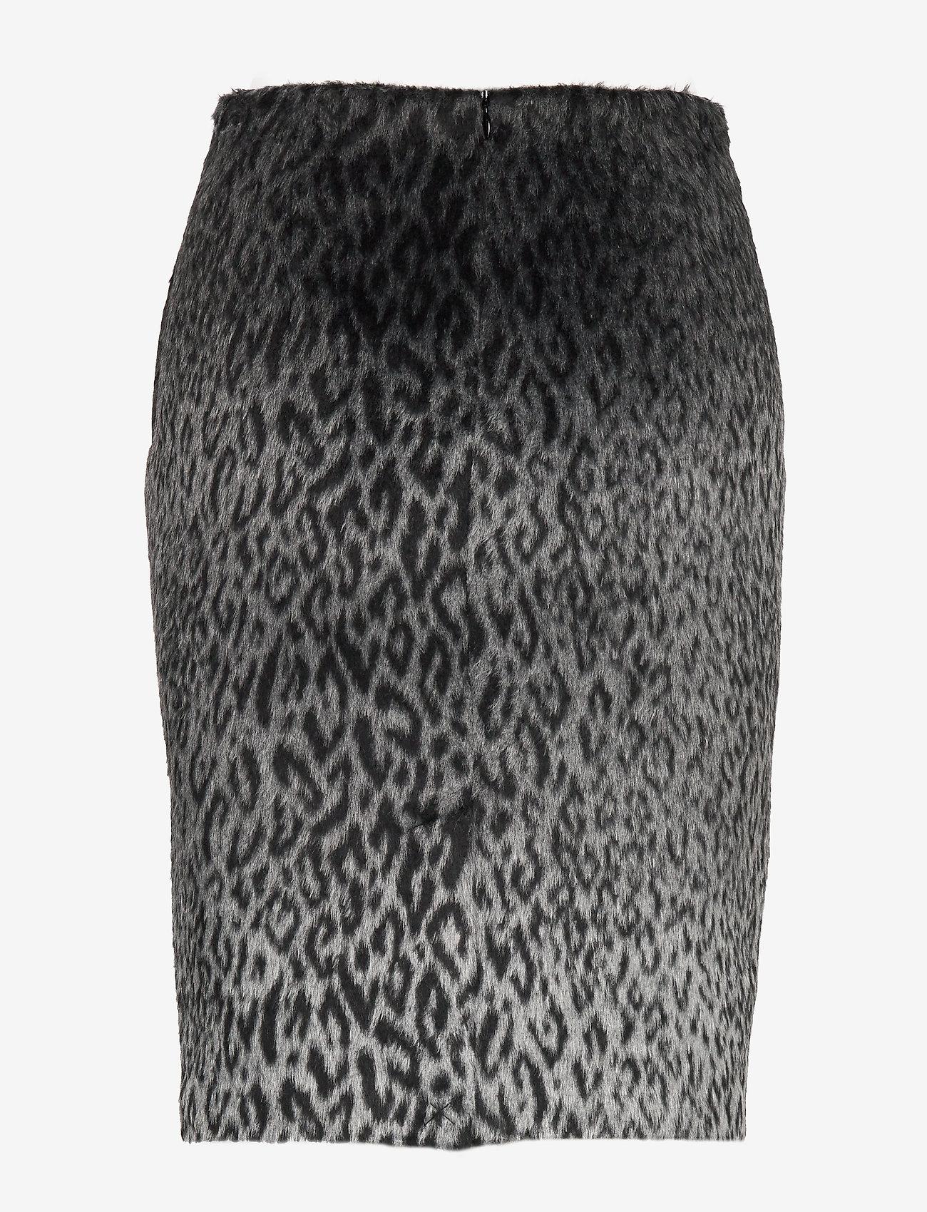 Karl Lagerfeld - Karl X Carine Leopard Skirt - kynähame - black/gray - 1