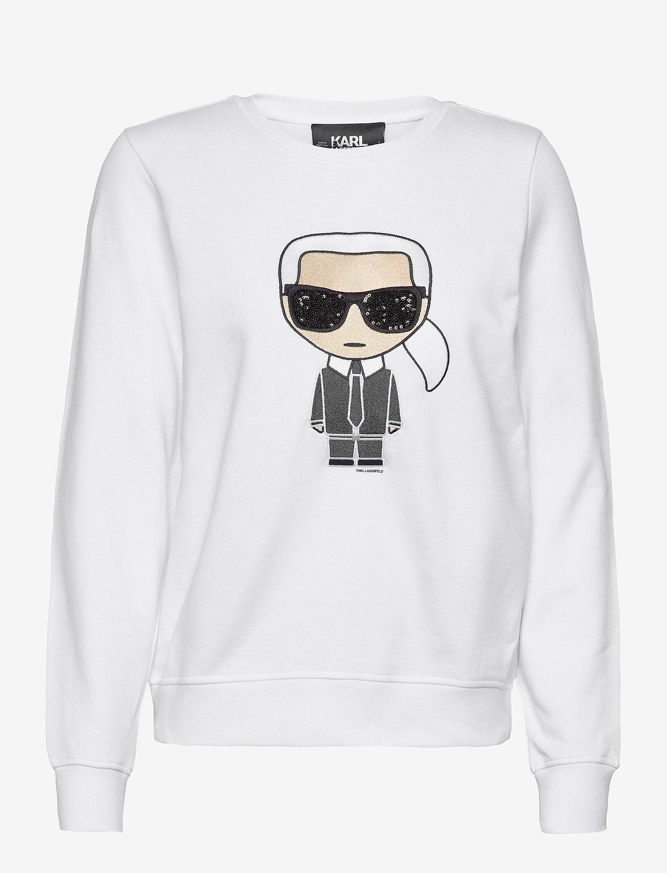 Karl Lagerfeld ikonik karl sweatshirt - Sweatshirts WHITE - Dameklær Spesialtilbud
