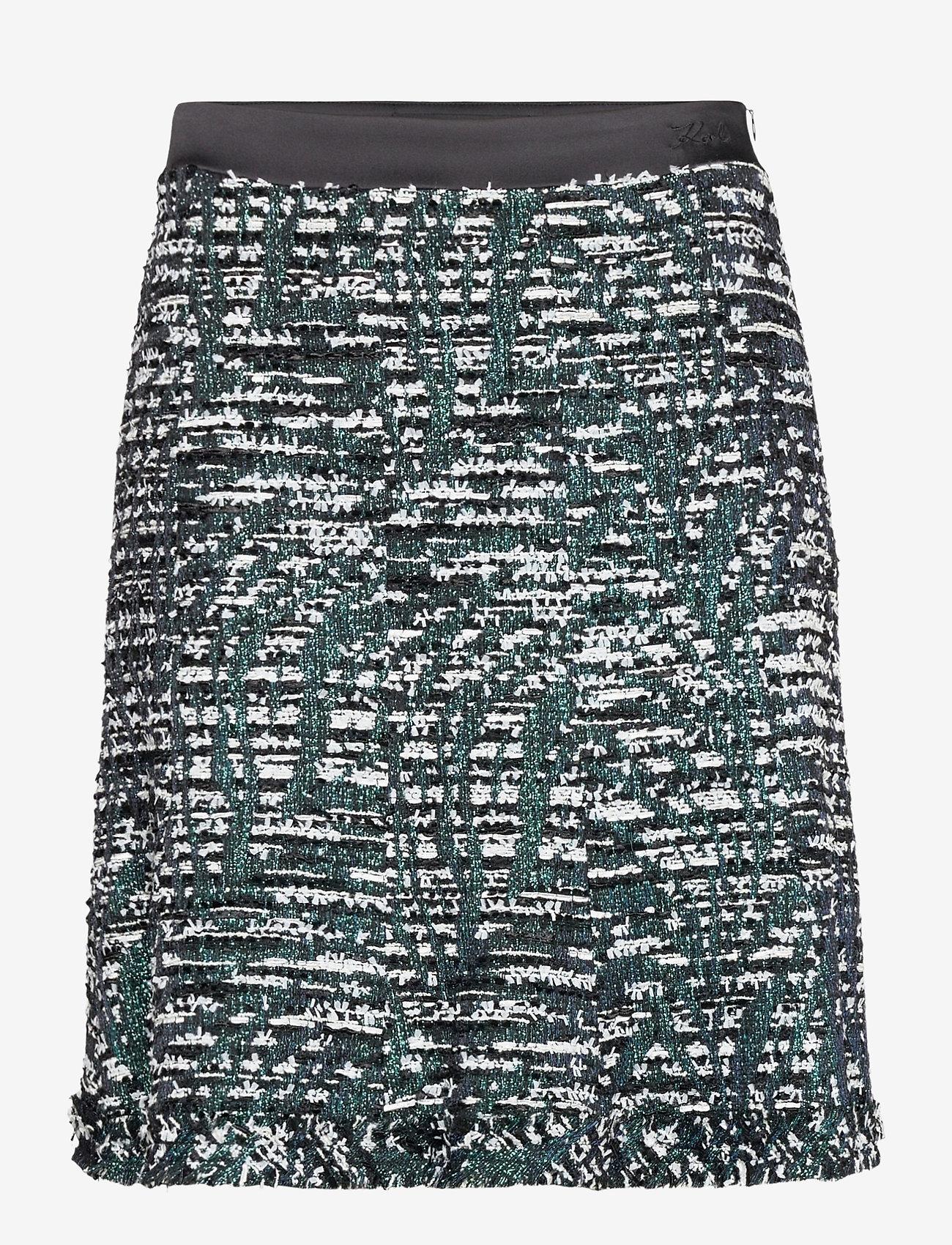 Karl Lagerfeld - Sparkle Boucle Skirt - korta kjolar - sprkl black bc - 0