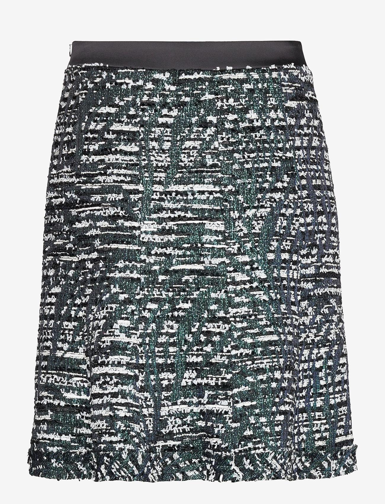 Karl Lagerfeld - Sparkle Boucle Skirt - korta kjolar - sprkl black bc - 1
