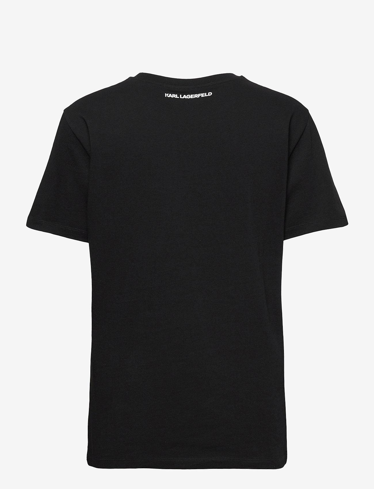 Karl Lagerfeld - karl essential logo t-shirt - t-shirts - black - 1
