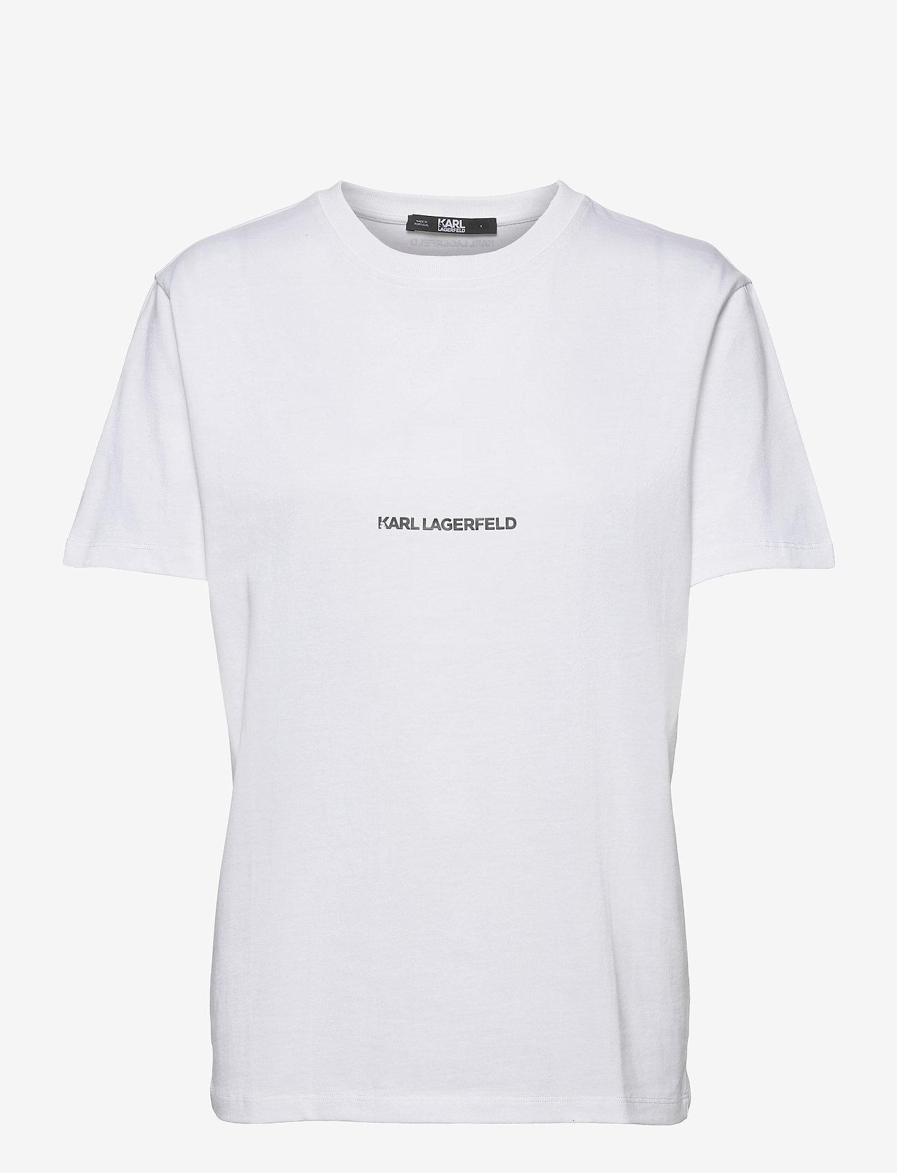 Karl Lagerfeld - karl essential logo t-shirt - t-shirts - white - 0