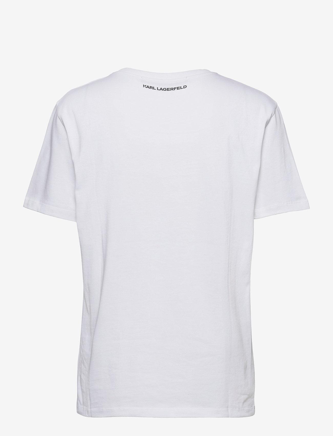 Karl Lagerfeld - karl essential logo t-shirt - t-shirts - white - 1