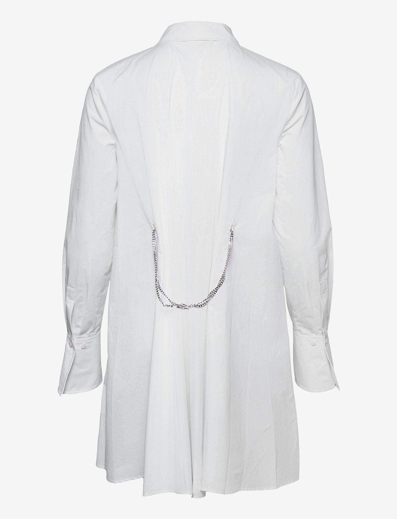 Karl Lagerfeld - embellished poplin tunic shirt - tunikaer - white - 1