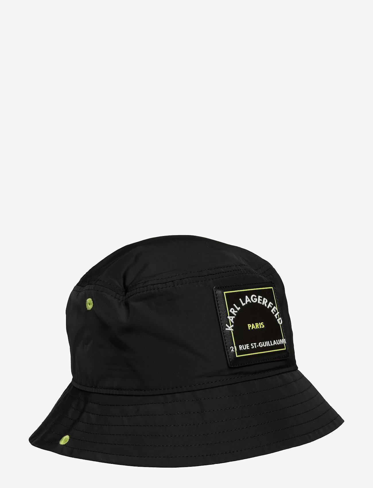Karl Lagerfeld - Rsg Patch Bucket Hat - bøllehatte - black - 0