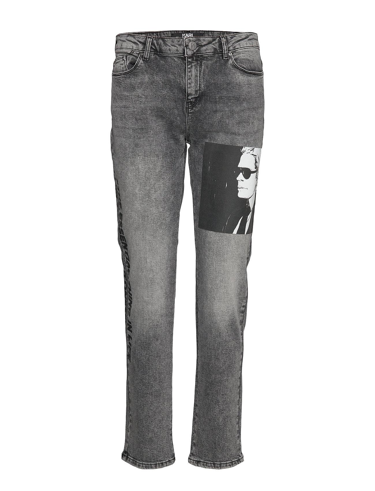 Karl Lagerfeld Karl Legend Printed Denim - GREY DENIM