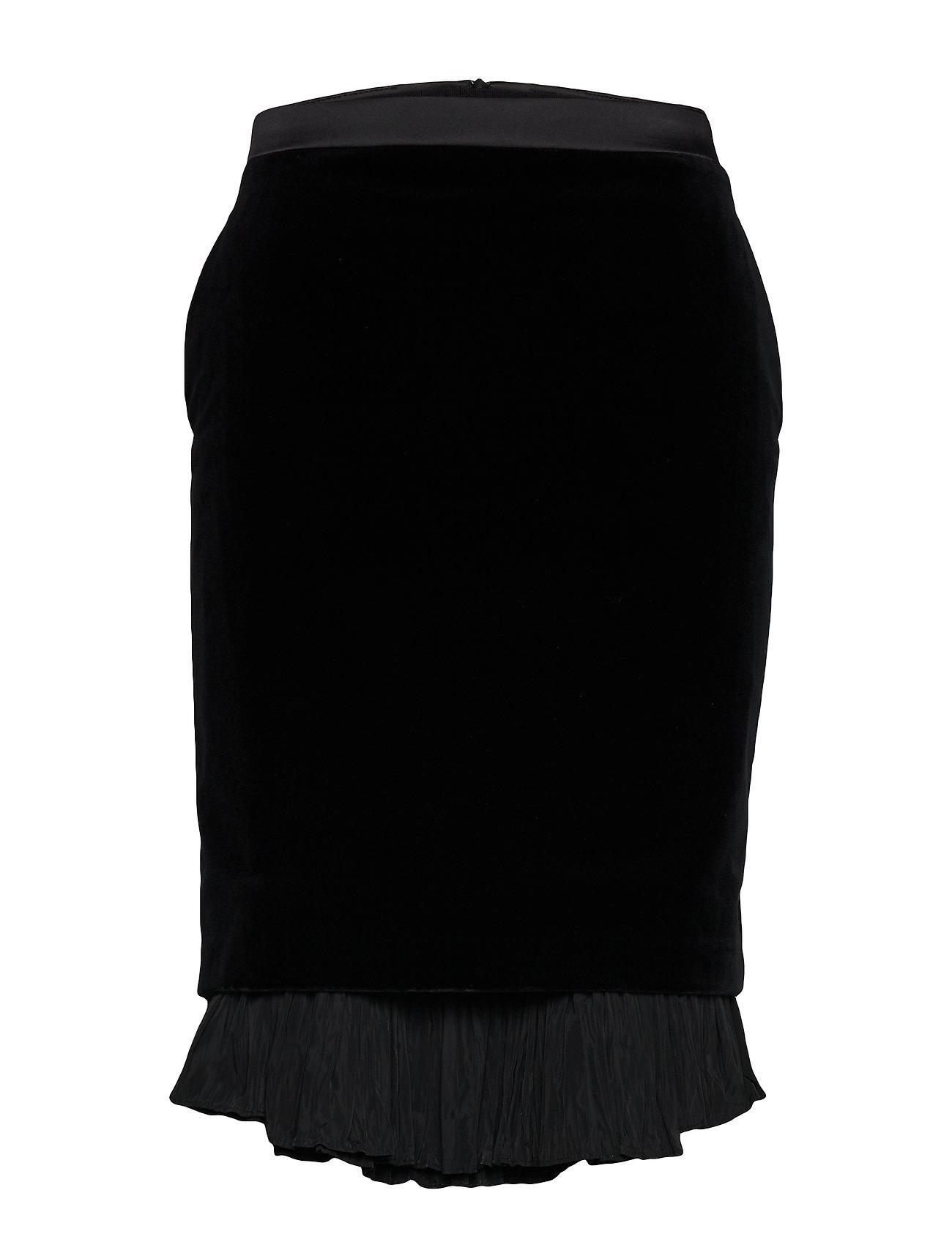 Karl Lagerfeld Karl X Carine Velvet Skirt - BLACK