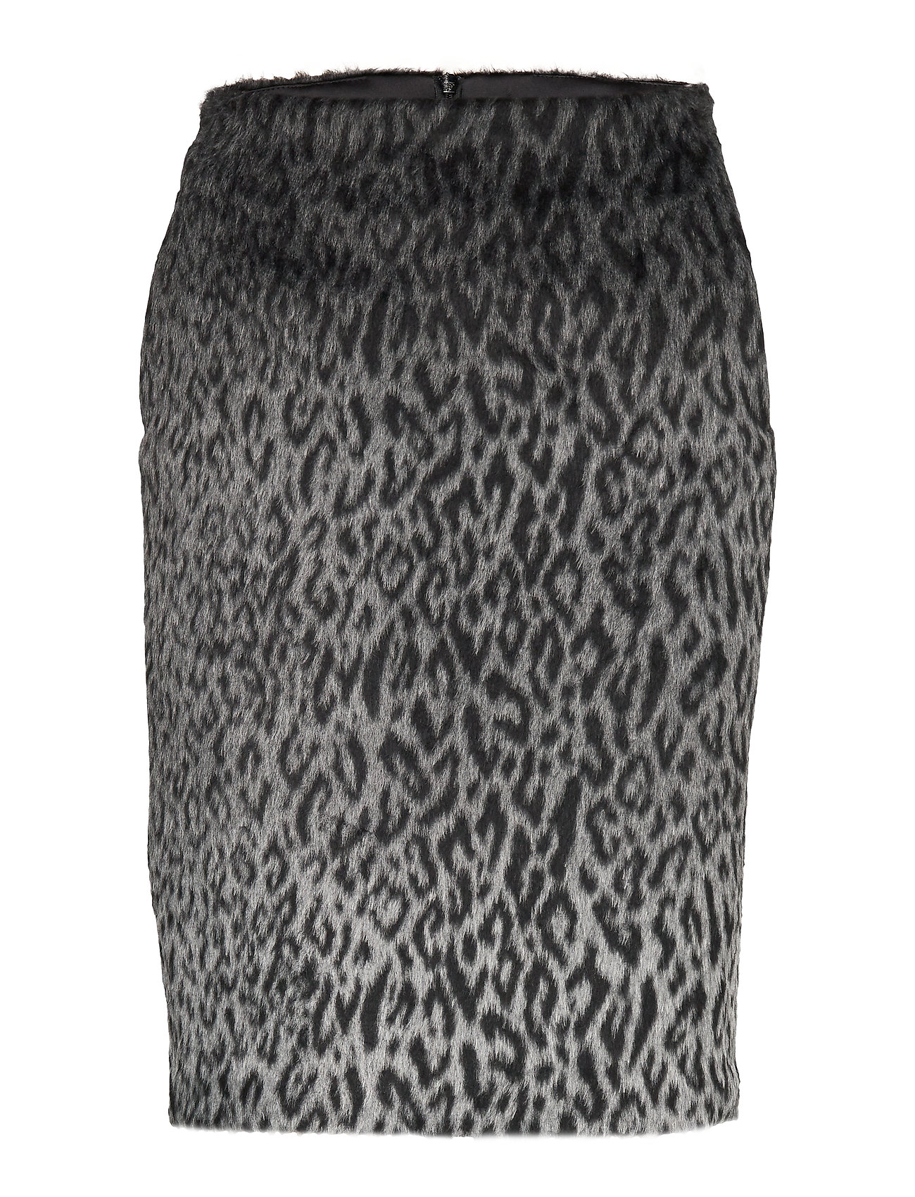 Karl Lagerfeld Karl X Carine Leopard Skirt - BLACK/GRAY