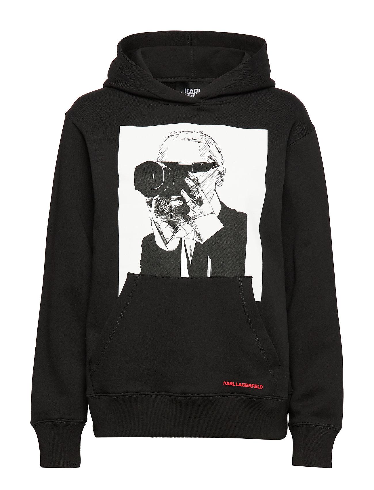 Karl Lagerfeld Karl Legend Hoodie - BLACK