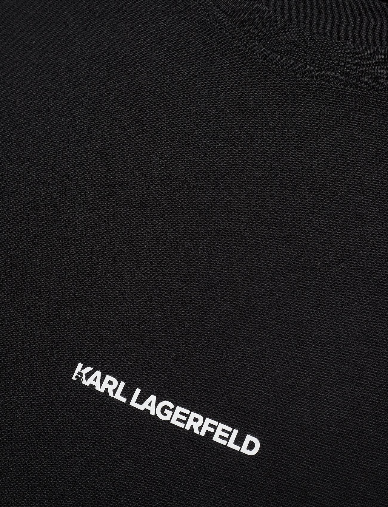 Karl Lagerfeld - karl essential logo t-shirt - t-shirts - black - 2