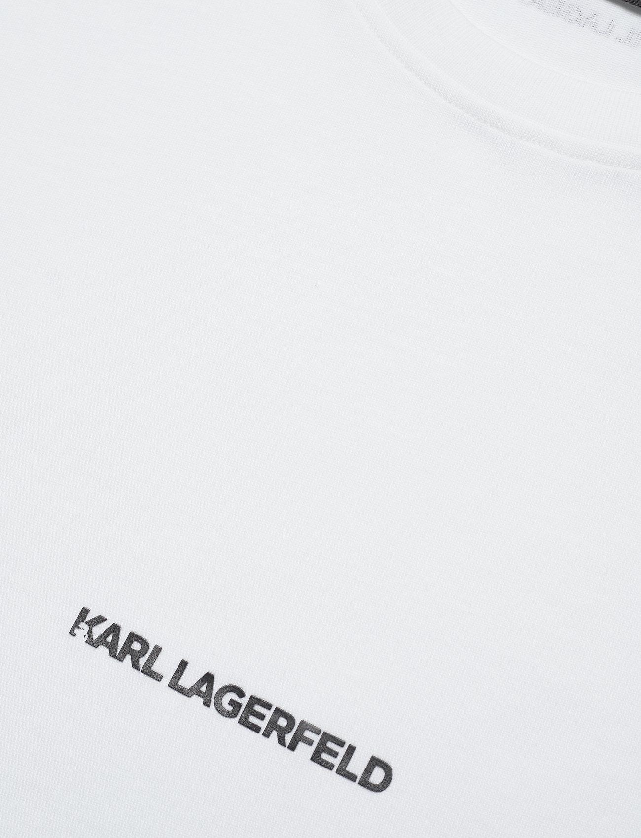 Karl Lagerfeld - karl essential logo t-shirt - t-shirts - white - 2