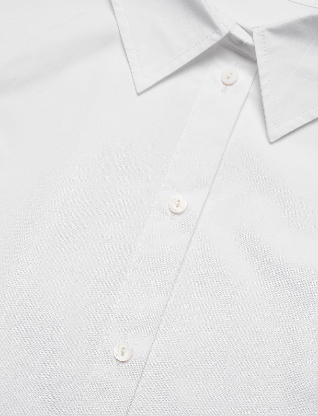 Karl Lagerfeld - embellished poplin tunic shirt - tunikaer - white - 2