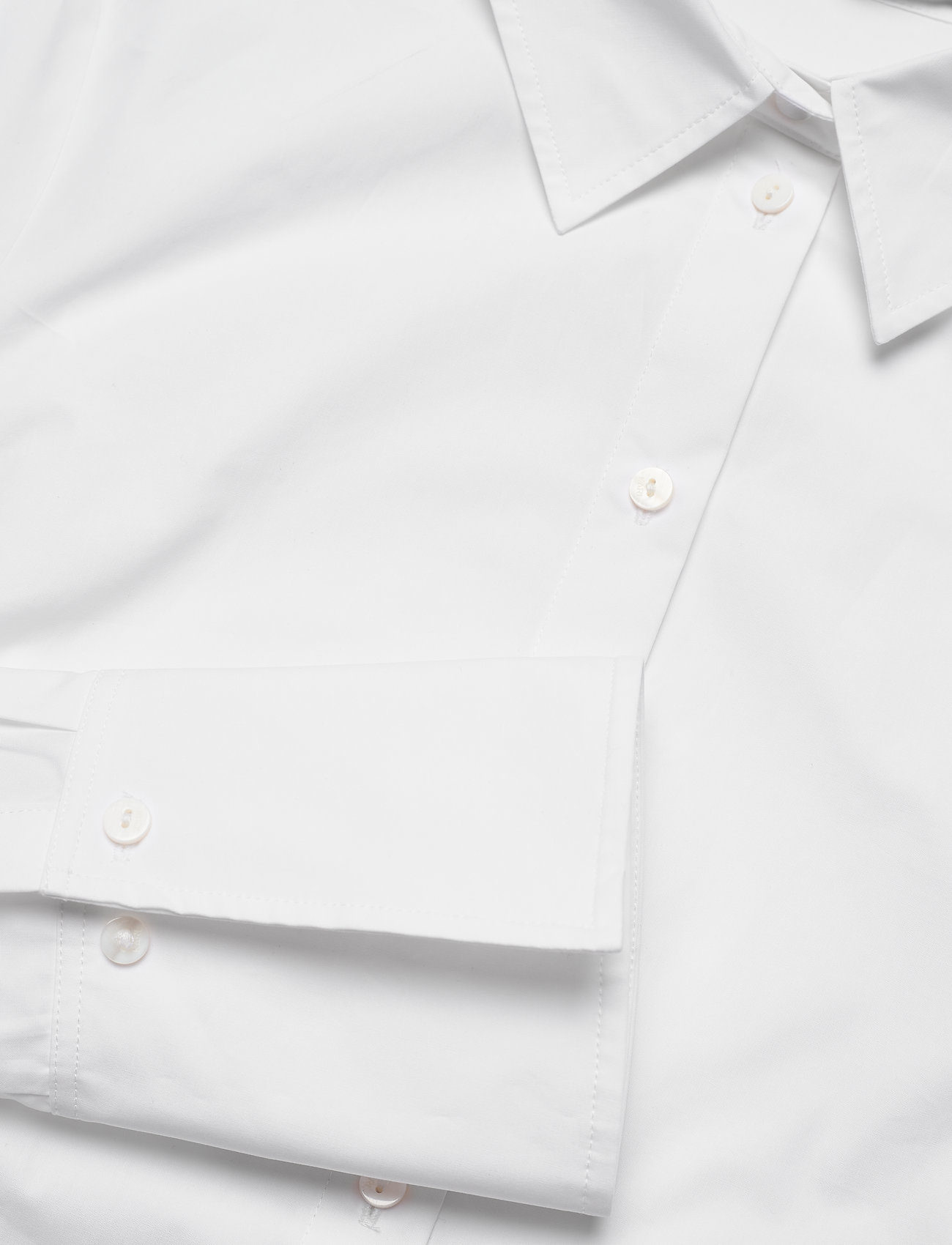 Karl Lagerfeld - embellished poplin tunic shirt - tunikaer - white - 3