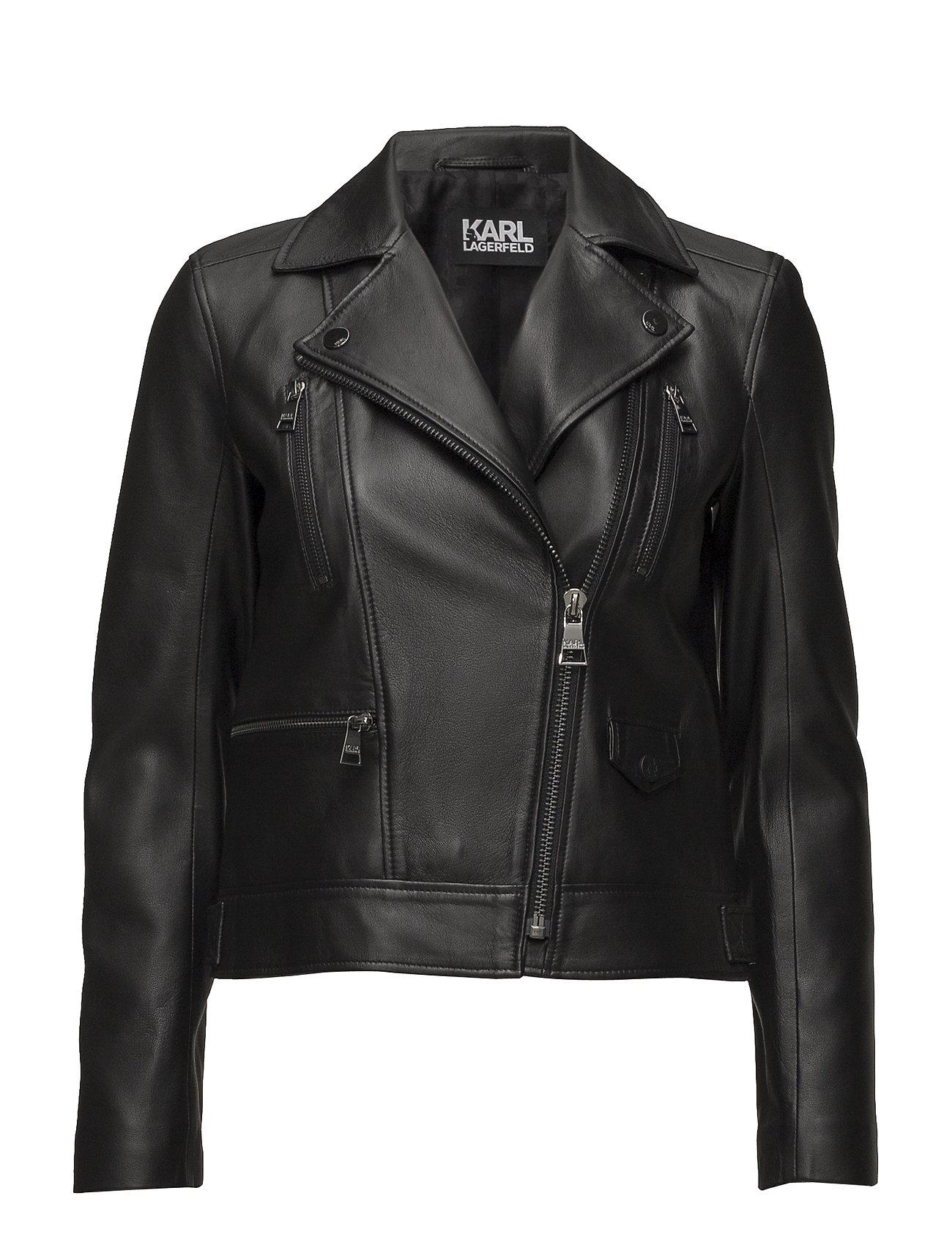 Karl Lagerfeld Ikonik Odina Biker Jacket - BLACK