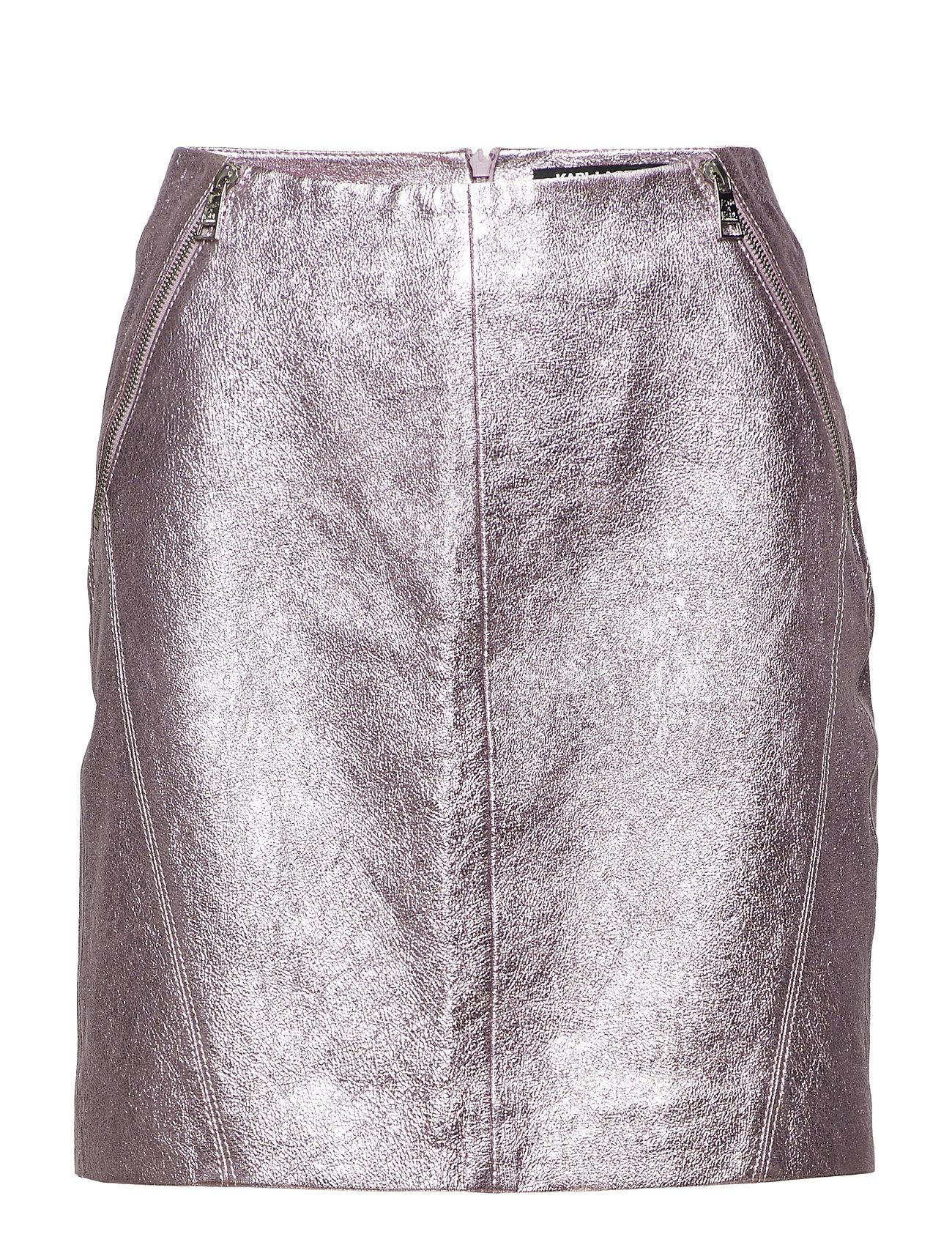 Karl Lagerfeld KARL LAGERFELD Karl X Kaia Leather Skirt Kjolar
