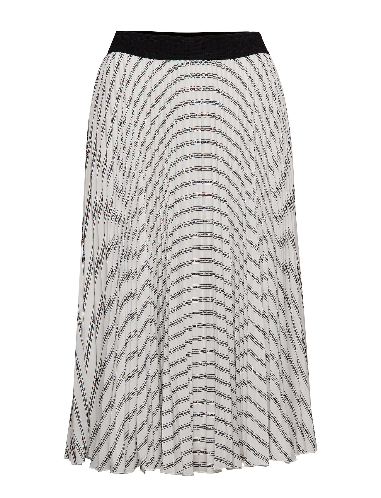 Karl Lagerfeld Pleated Logo Midi Skirt