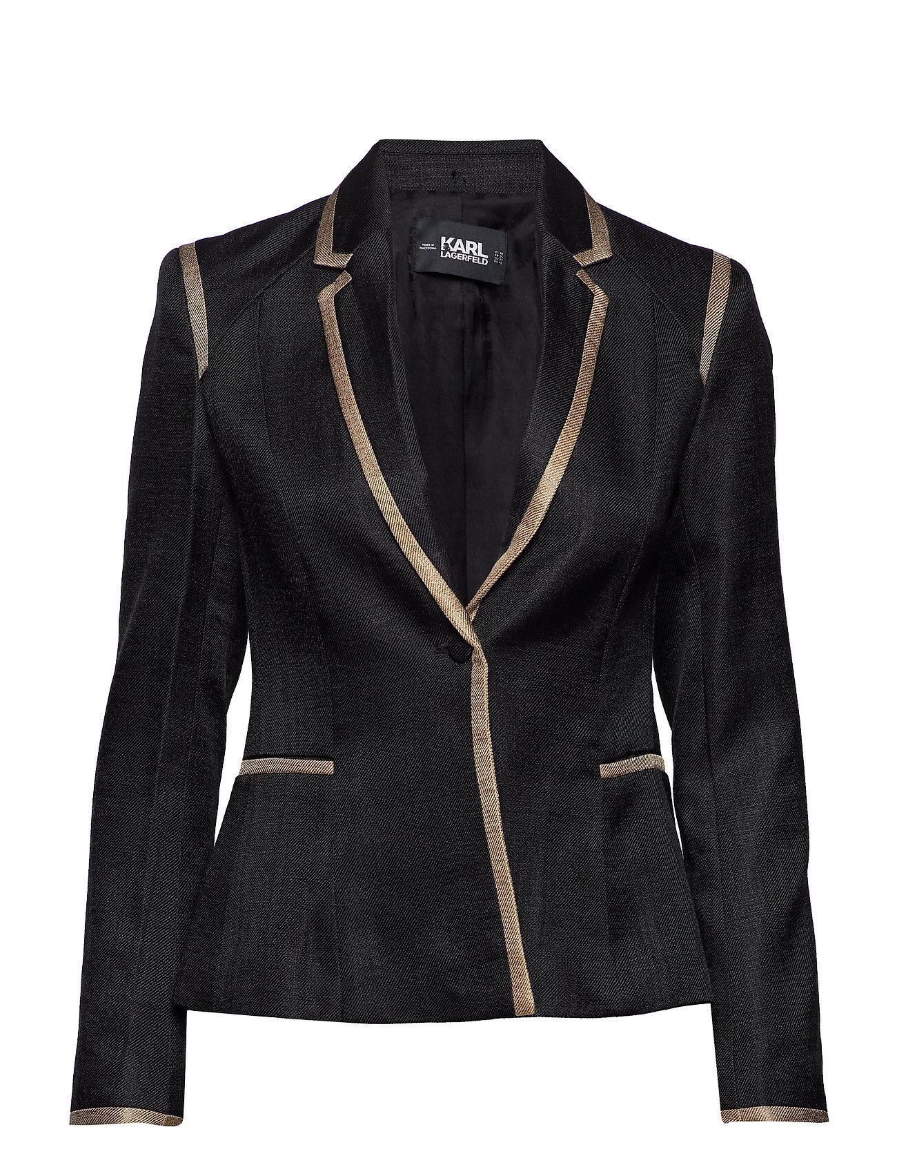 Karl Lagerfeld Tailored Twill Blazer W/Piping