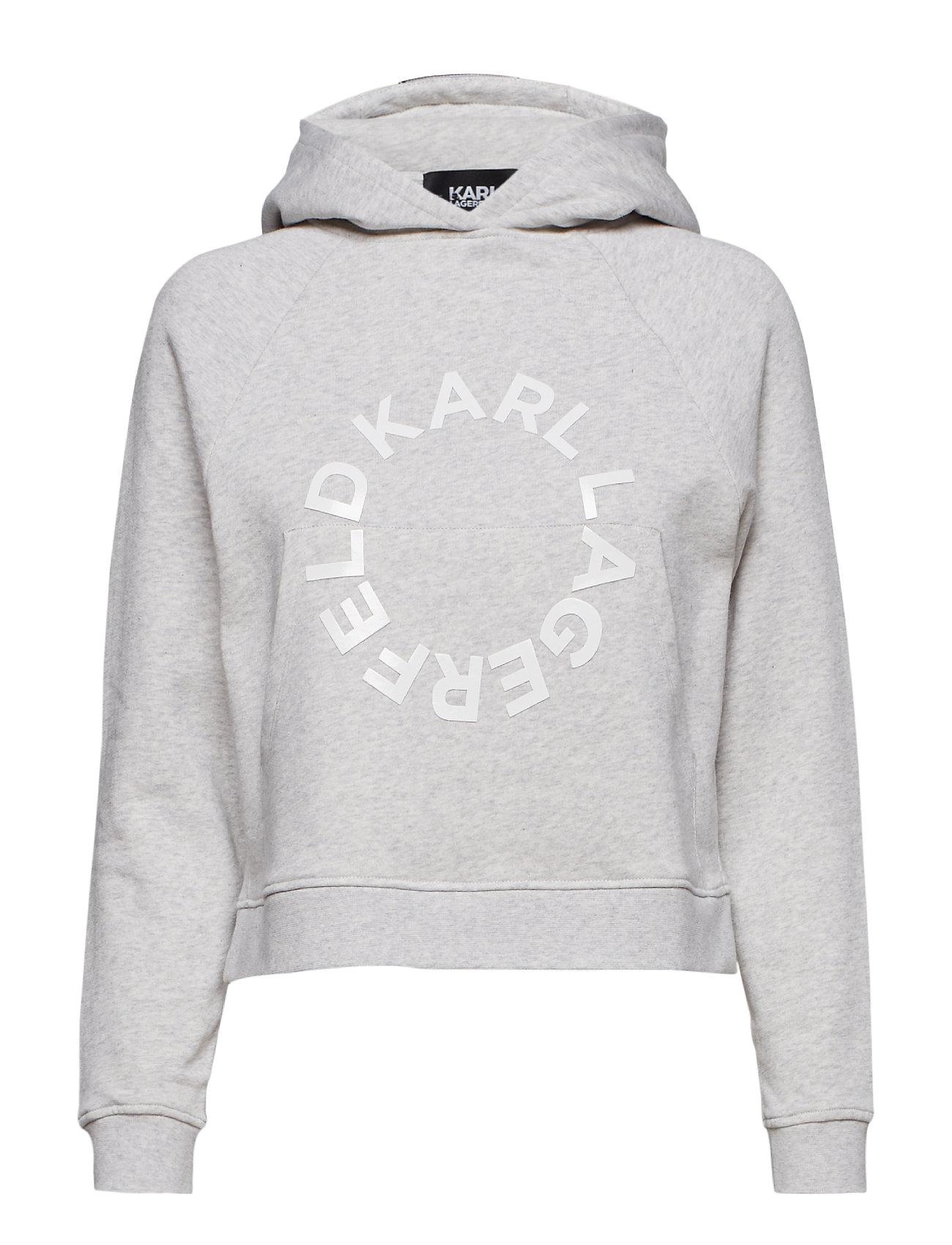 Karl Lagerfeld Cropped Hoodie W/ Circle Logo