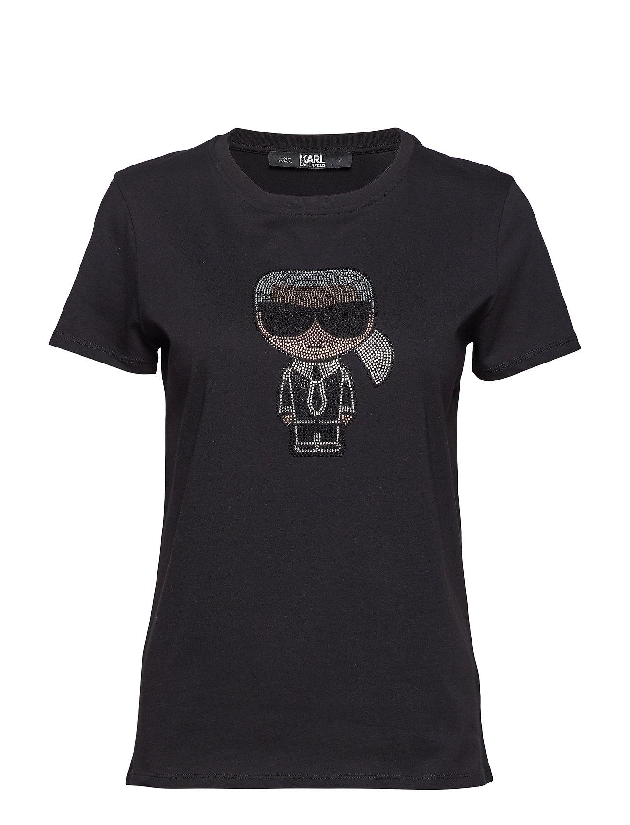 Karl Lagerfeld Ikonik Rhinestone Karl T Shirt Ögrönlar
