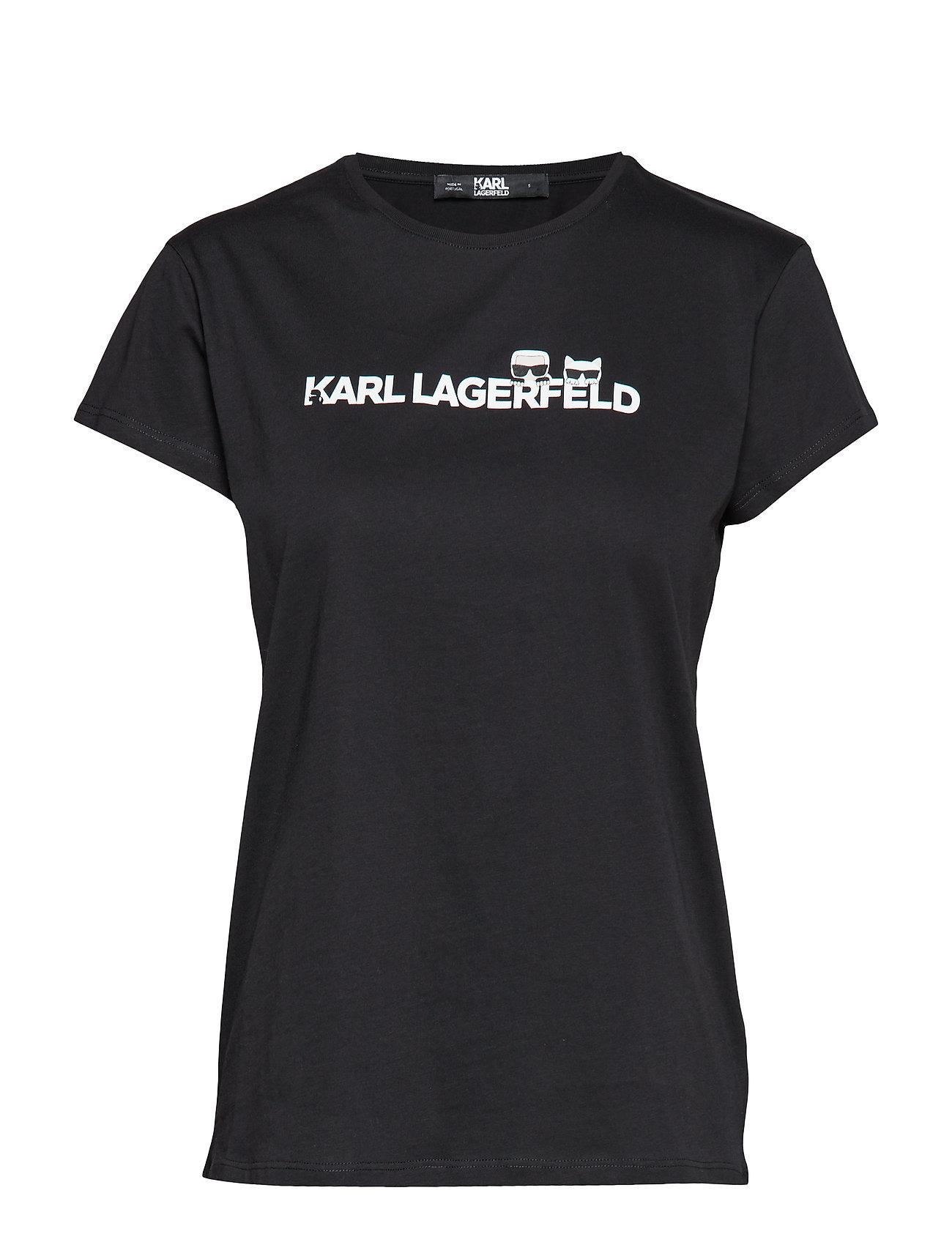 Karl Lagerfeld Ikonik & Logo T Shirt Ögrönlar