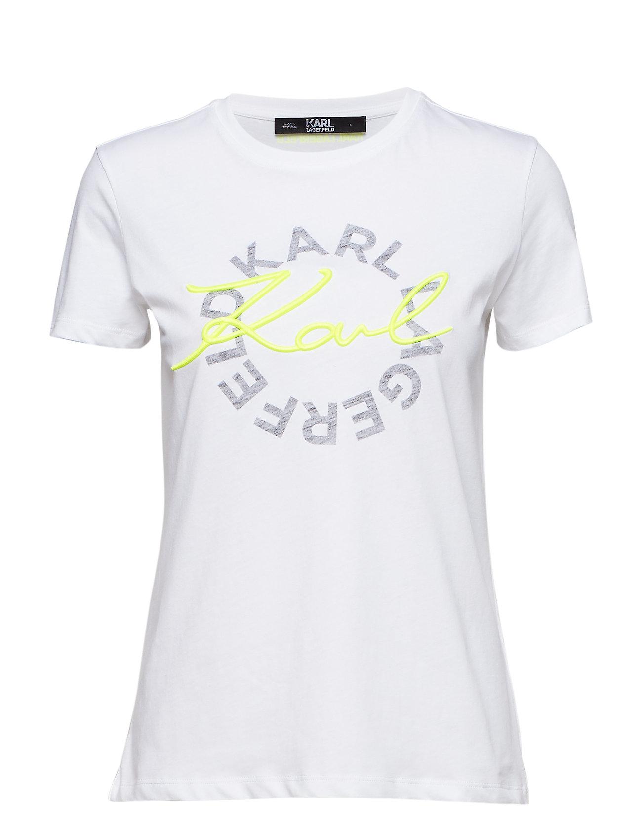Karl Lagerfeld Neon Lights Dbl Logo T-Shirt