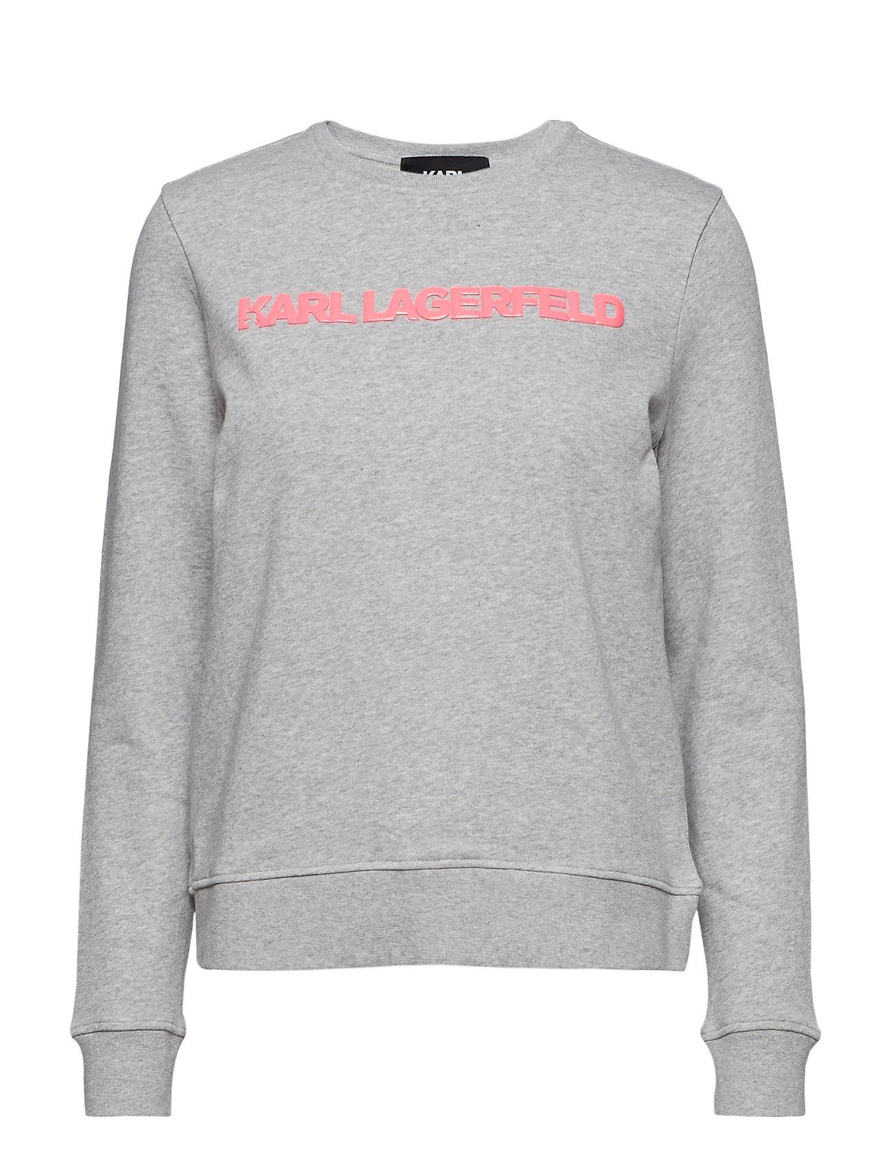 Karl Lagerfeld Neon Lights Logo Sweatshirt - GREY