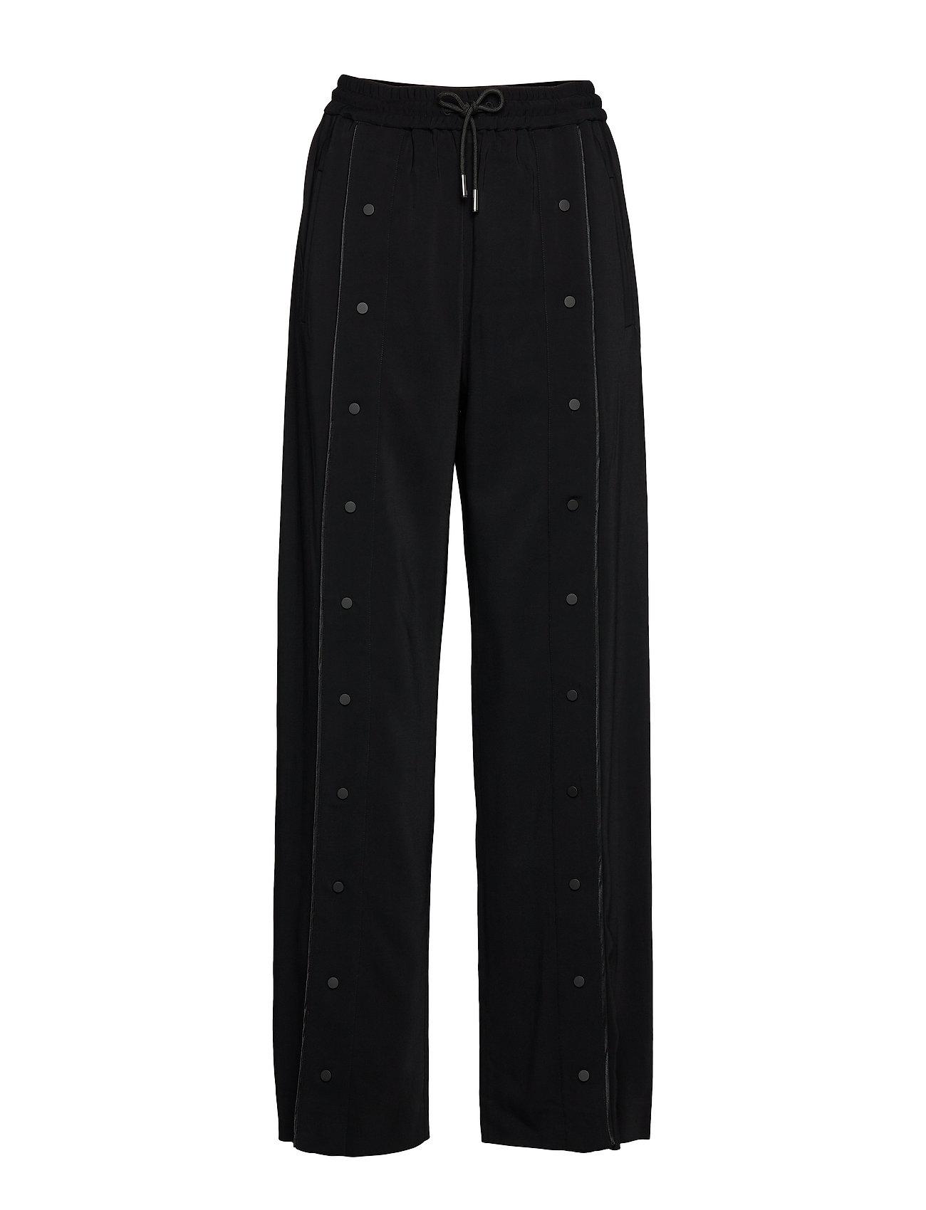 Image of Wide Leg Snap Pants W/ Logo Vide Bukser Sort Karl Lagerfeld (3406203685)