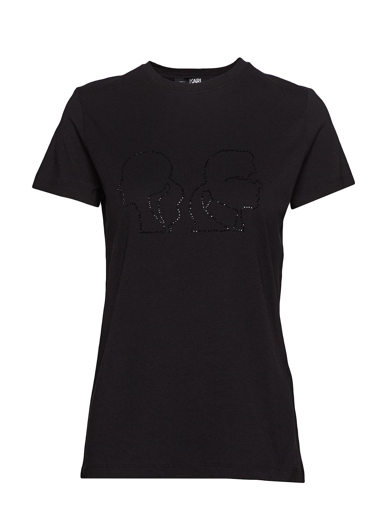 Karl Lagerfeld Karl X Olivia Profile Tee - 999 BLACK