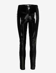 Karl Lagerfeld - karl faux patent leggings - nahka - black - 0