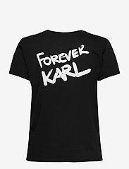 Karl Lagerfeld - forever karl t-shirt - t-shirts - black - 1