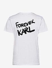 Karl Lagerfeld - forever karl t-shirt - t-shirts - white - 1
