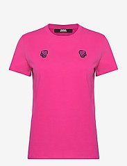 Karl Lagerfeld - Mini Ikonik Karl Patch T-Shirt - t-shirts - rose violet - 0
