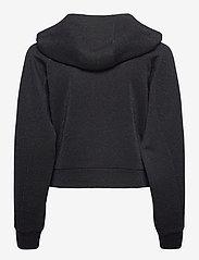 Karl Lagerfeld - Lurex Cropped Hoodie - sweatshirts & hættetrøjer - sprkl blue - 1