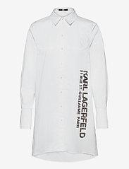 Karl Lagerfeld - embellished poplin tunic shirt - tunikaer - white - 0