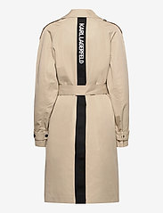 Karl Lagerfeld - Trench Coat W/ Logo Tape - trenchcoats - hummus - 1