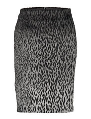 Karl X Carine Leopard Skirt - BLACK/GRAY