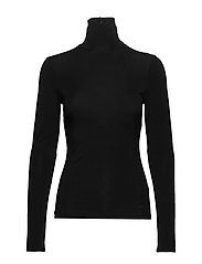 Karl X Carine Ls Turtle Neck - BLACK